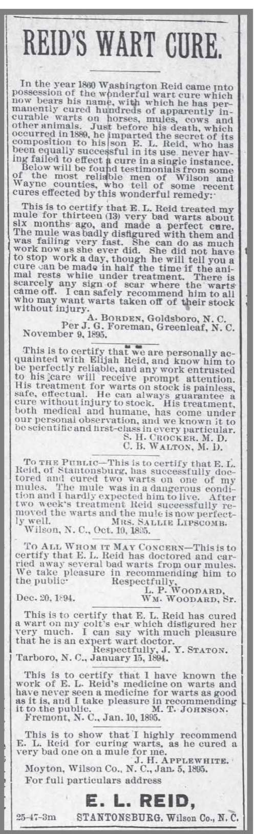 Wilson_Advance_12_26_1895_Reid_Wart_Cure